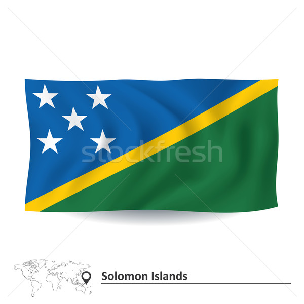Bandiera Isole Salomone texture silhouette paese grafica Foto d'archivio © ojal