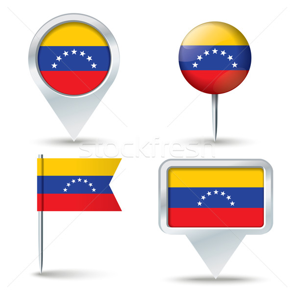 Mapa bandeira Venezuela negócio estrada branco Foto stock © ojal