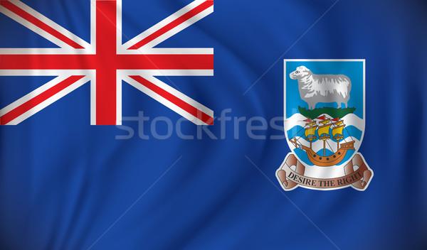 Zászló Falkland-szigetek térkép terv felirat sziluett Stock fotó © ojal