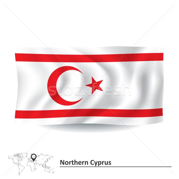 フラグ 北方 キプロス フレーム 芸術 旅行 ストックフォト © ojal