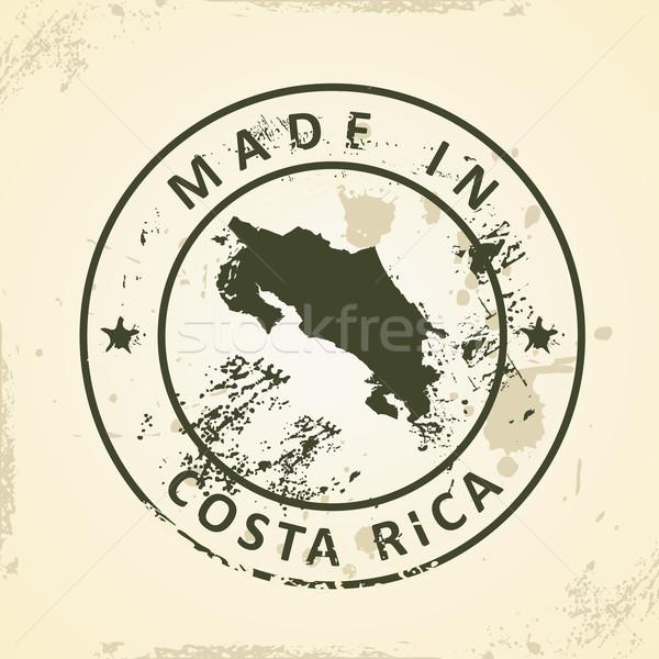 Sello mapa Costa Rica grunge resumen diseno Foto stock © ojal