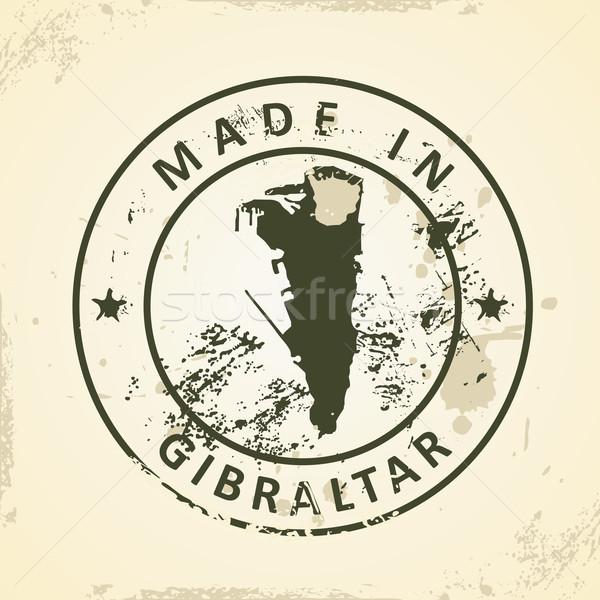 Pieczęć Pokaż gibraltar grunge sztuki podpisania Zdjęcia stock © ojal