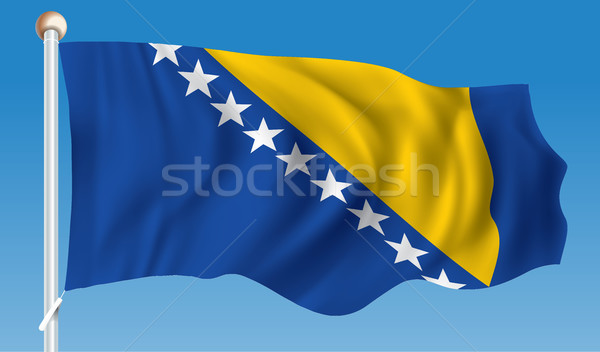 Bandera Bosnia Herzegovina ciudad resumen diseno viaje Foto stock © ojal