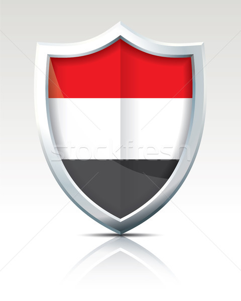 Shield with Flag of Yemen Stock photo © ojal