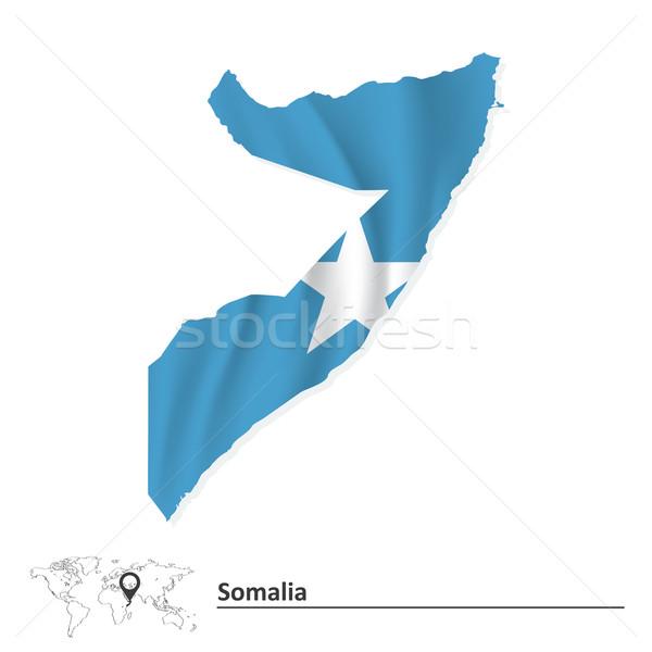地図 ソマリア フラグ テクスチャ にログイン 星 ストックフォト © ojal