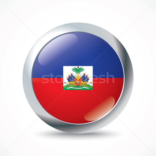 Haiti bayrak düğme dizayn dünya arka plan Stok fotoğraf © ojal