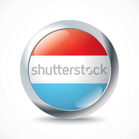 Luksemburg banderą przycisk tekstury streszczenie projektu Zdjęcia stock © ojal