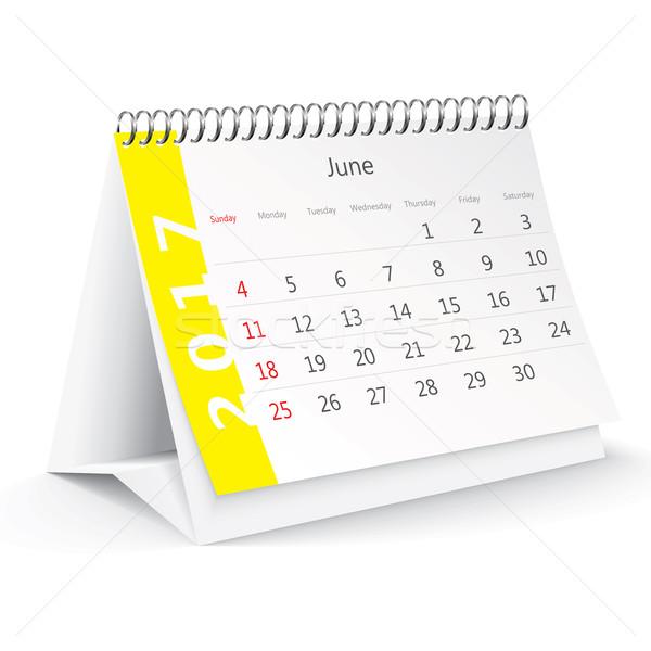 June 2017 desk calendar - vector Stock photo © ojal