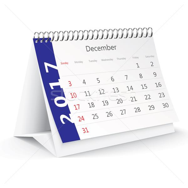 Dezembro secretária calendário vetor escritório primavera Foto stock © ojal