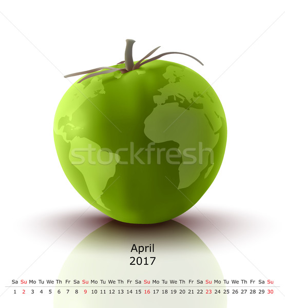 April 2017 tomato calendar Stock photo © ojal