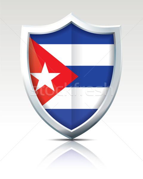 Schild vlag Cuba achtergrond kunst teken Stockfoto © ojal