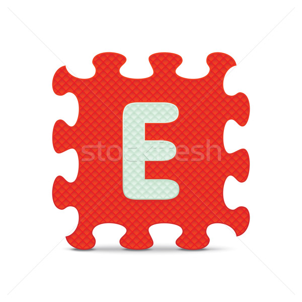Vector letter 'E' written with alphabet puzzle Stock photo © ojal