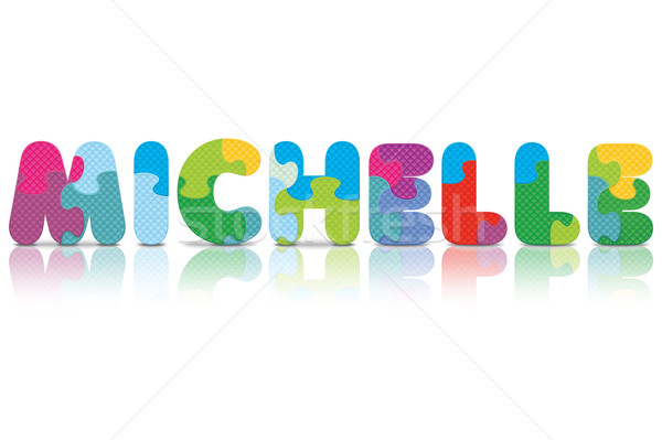 Vector MICHELLE written with alphabet puzzle Stock photo © ojal