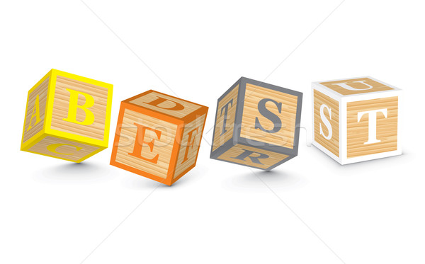 Stock photo: Word BEST written with alphabet blocks