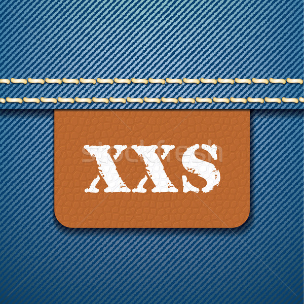 XXS size clothing label - vector Stock photo © ojal