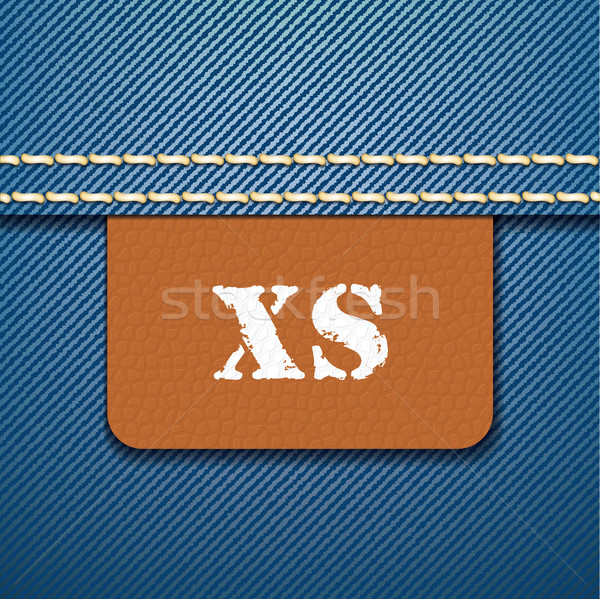 XS size clothing label - vector Stock photo © ojal