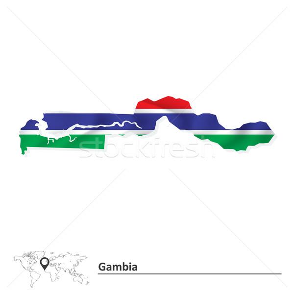 地図 ガンビア フラグ 抽象的な 世界 芸術 ストックフォト © ojal