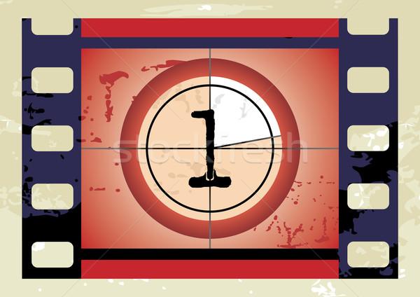 фильма обратный отсчет вектора нет экране красный Сток-фото © ojal