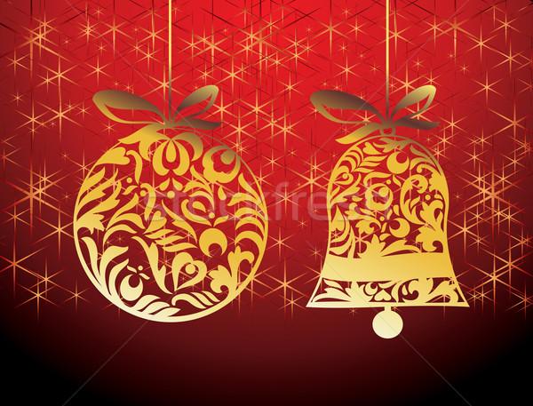 вектора Рождества дизайна Элементы аннотация шаблон Сток-фото © ojal