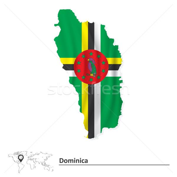 карта Доминика флаг текстуры фон искусства Сток-фото © ojal
