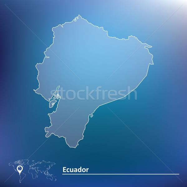 Kaart Ecuador textuur achtergrond aarde kunst Stockfoto © ojal