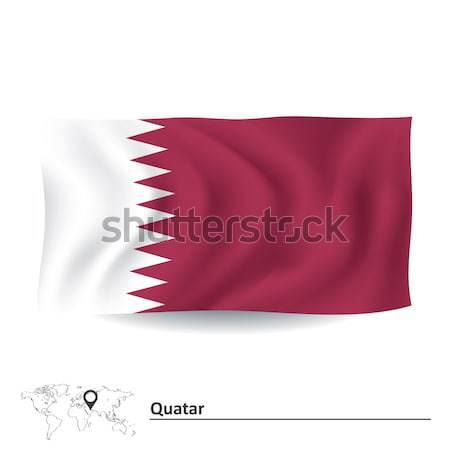 Bandiera sfondo viaggio silhouette paese disegno Foto d'archivio © ojal