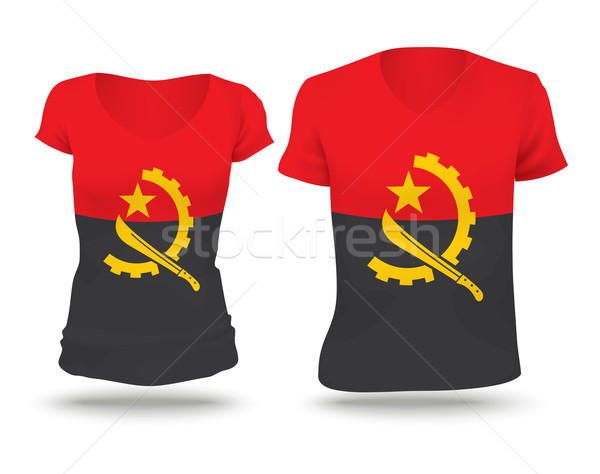 Flag shirt design of Angola Stock photo © ojal