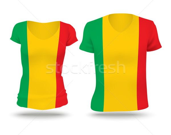 Flag shirt design of Mali Stock photo © ojal
