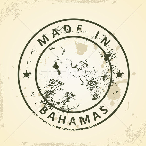 Stamp with map of Bahamas Stock photo © ojal