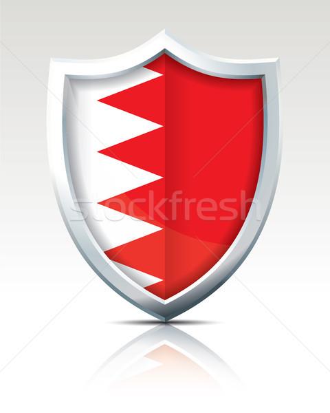 Escudo bandeira Bahrein projeto arte assinar Foto stock © ojal