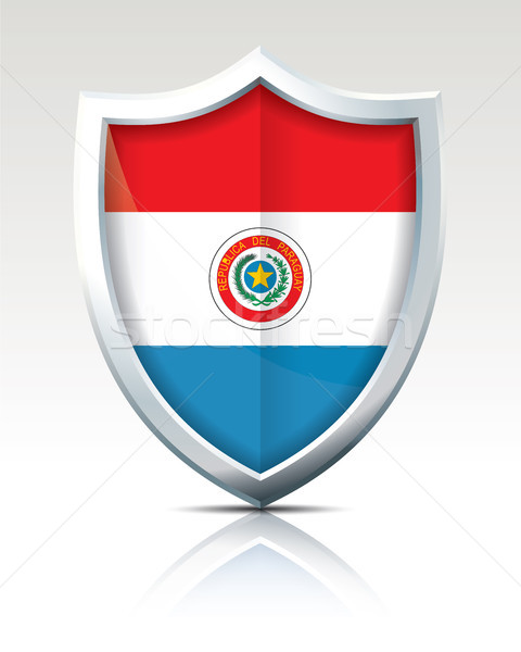 Shield with Flag of Paraguay Stock photo © ojal