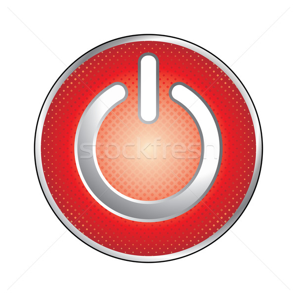 red power button Stock photo © ojal