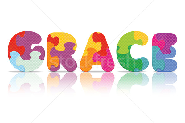 Vector GRACE written with alphabet puzzle Stock photo © ojal