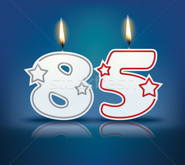 Birthday candle number 85 Stock photo © ojal