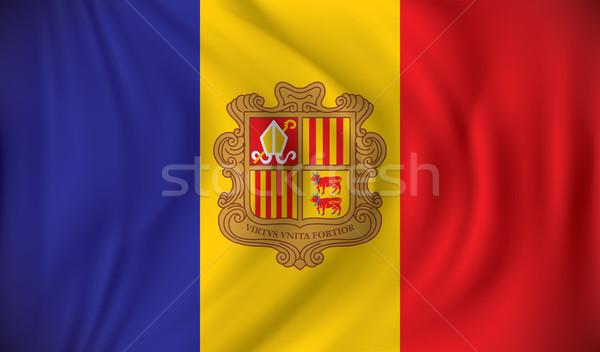 Flag of Andorra Stock photo © ojal