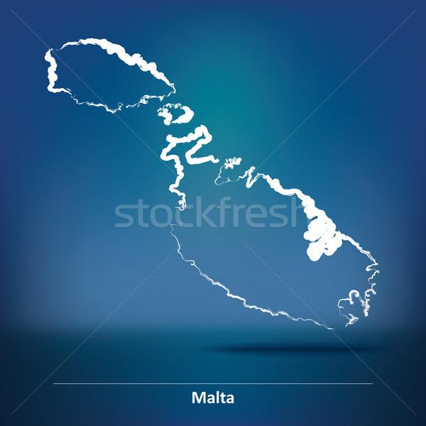 いたずら書き 地図 マルタ 背景 旅行 風 ストックフォト © ojal