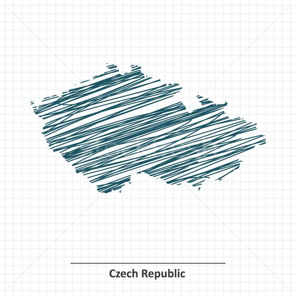 Doodle sketch of Czech Republic map Stock photo © ojal