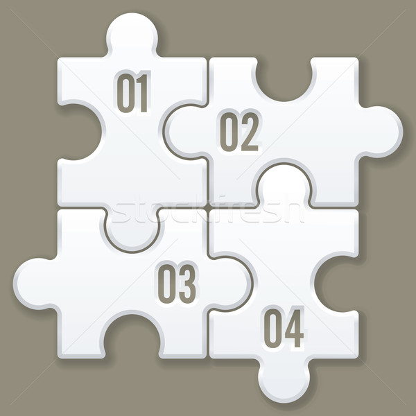 modern puzzle template Stock photo © ojal