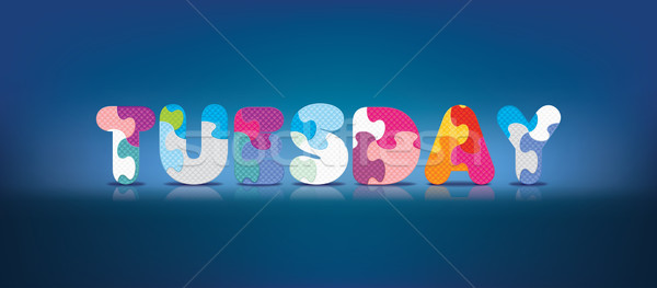 Vector TUESDAY written with alphabet puzzle Stock photo © ojal