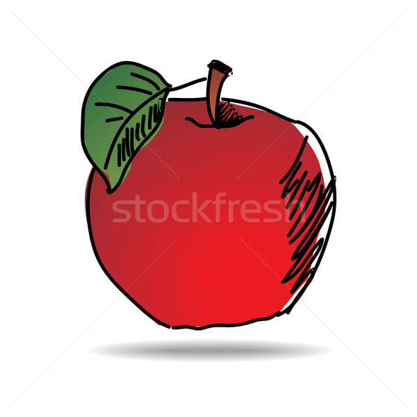 Freehand drawing apple icon Stock photo © ojal