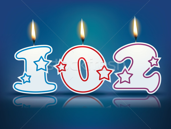 Birthday candle number 102 Stock photo © ojal