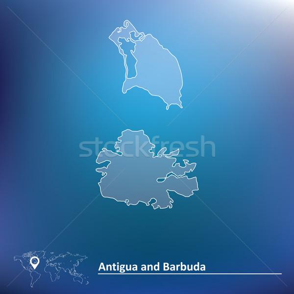 Map of Antigua and Barbuda Stock photo © ojal