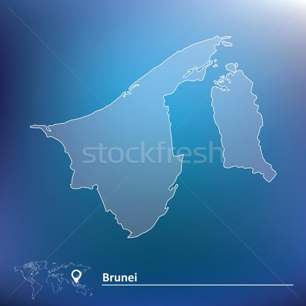 Térkép Brunei textúra világ háttér felirat Stock fotó © ojal