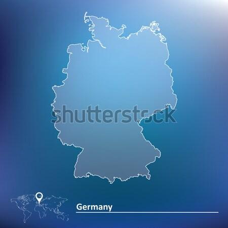 ストックフォト: 地図 · ドイツ · 抽象的な · 世界 · 背景 · にログイン