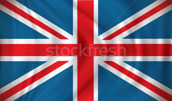 Zászló Egyesült Királyság tenger kereszt háttér óceán Stock fotó © ojal