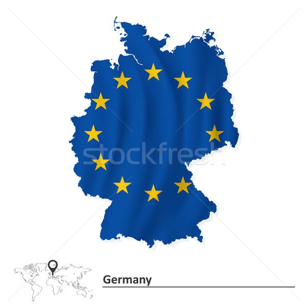 ストックフォト: 地図 · ドイツ · ヨーロッパの · 組合 · フラグ · 世界