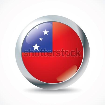 Samoa flag button Stock photo © ojal