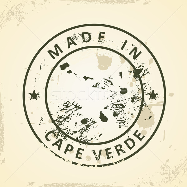 Stock photo: Stamp with map of Cape Verde