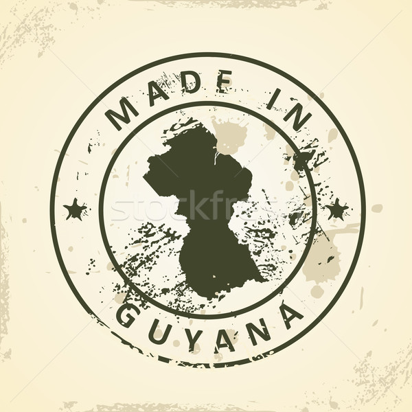 Stempel kaart Guyana grunge wereld teken Stockfoto © ojal