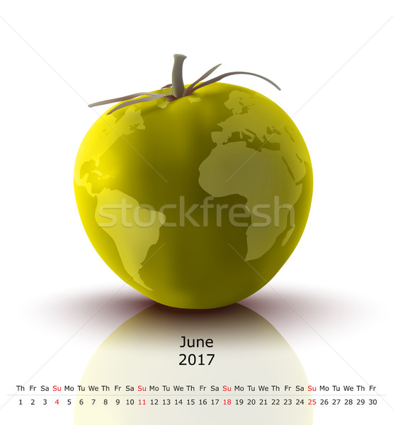 Tomates calendário negócio papel globo projeto Foto stock © ojal